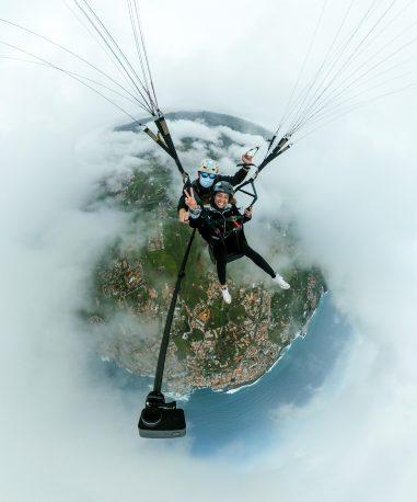 ggaparapente vuelo del teide con nubes-min